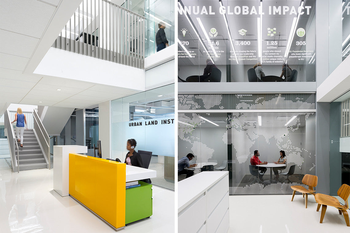 The Urban Land Institute reception area and meeting rooms, designed by STUDIOS Architecture.