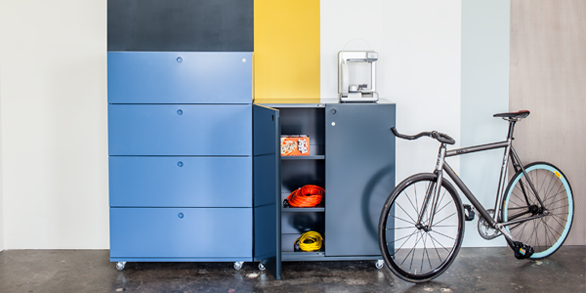 Modern filing cabinet and file storage made in the USA by Heartwork
