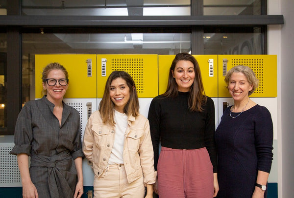 Four Women with Lockers