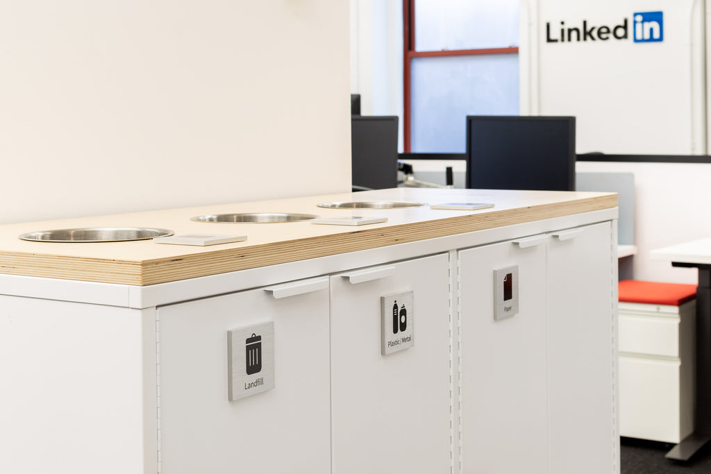 Recycling Credenza LinkedIn Office