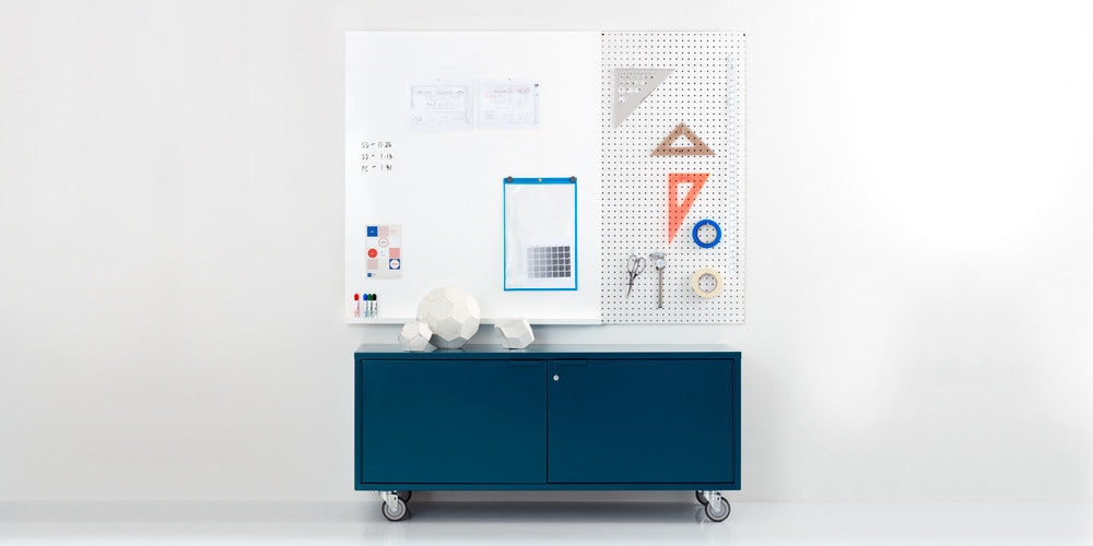 modern media credenza with casters – heartwork, inc