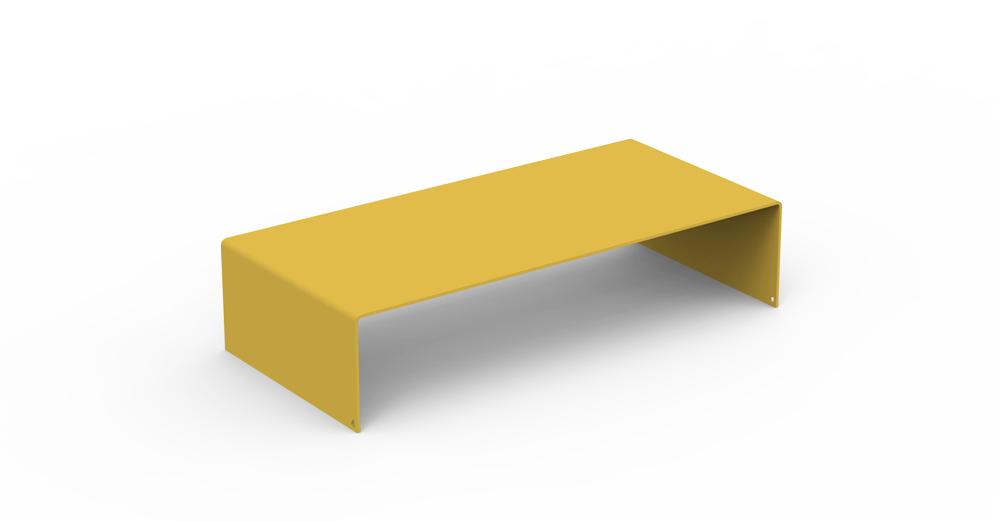 Yellow Solid Monitor Stand