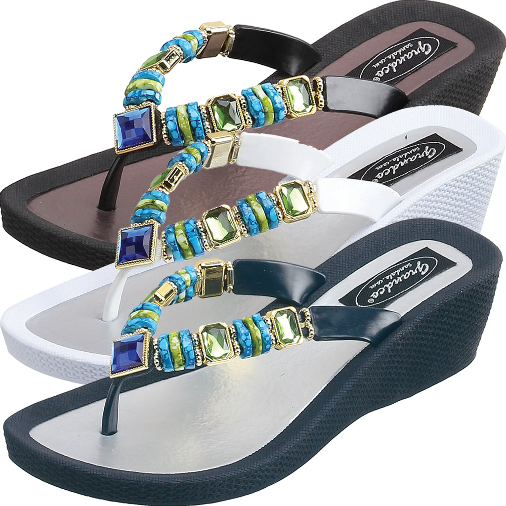 Grandco Sandals - WEDGE SANDALS
