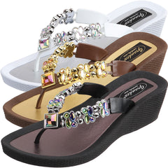 Grandco Sandals - Butterfly Wedge