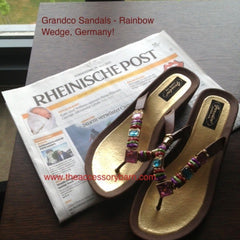 Grandco Sandals Rainbow Wedge at The Accessory Barn