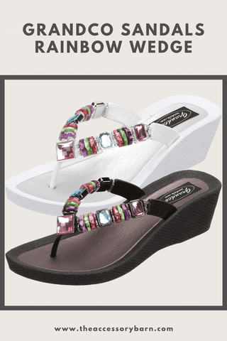Grandco Sandals Rainbow Wedge