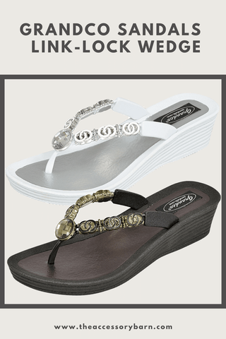 Grandco Sandals Link Locked Wedge