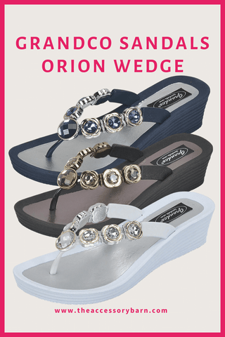Jeweled Sandals for Women - Orion Wedge by Grandco Sandals