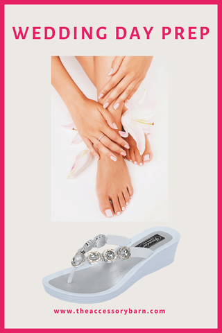 How to get Soft Feet for a Wedding Day