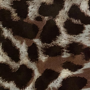 100% Leopard Brown Silk Scarf for Women  Edit Close Up