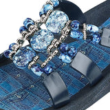 Grandco Sandals Denim Slide 25550D - Close Up
