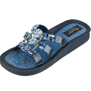 Grandco Sandals Denim Slide 25550D