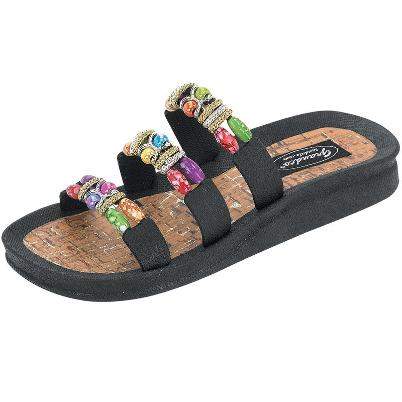 Grandco Sandals Classic Cork 22589C - Black Sole