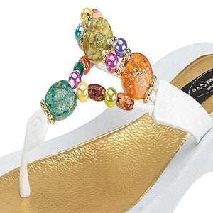 Grandco Sandals Marble Deluxe 24768G - Close Up of Beading