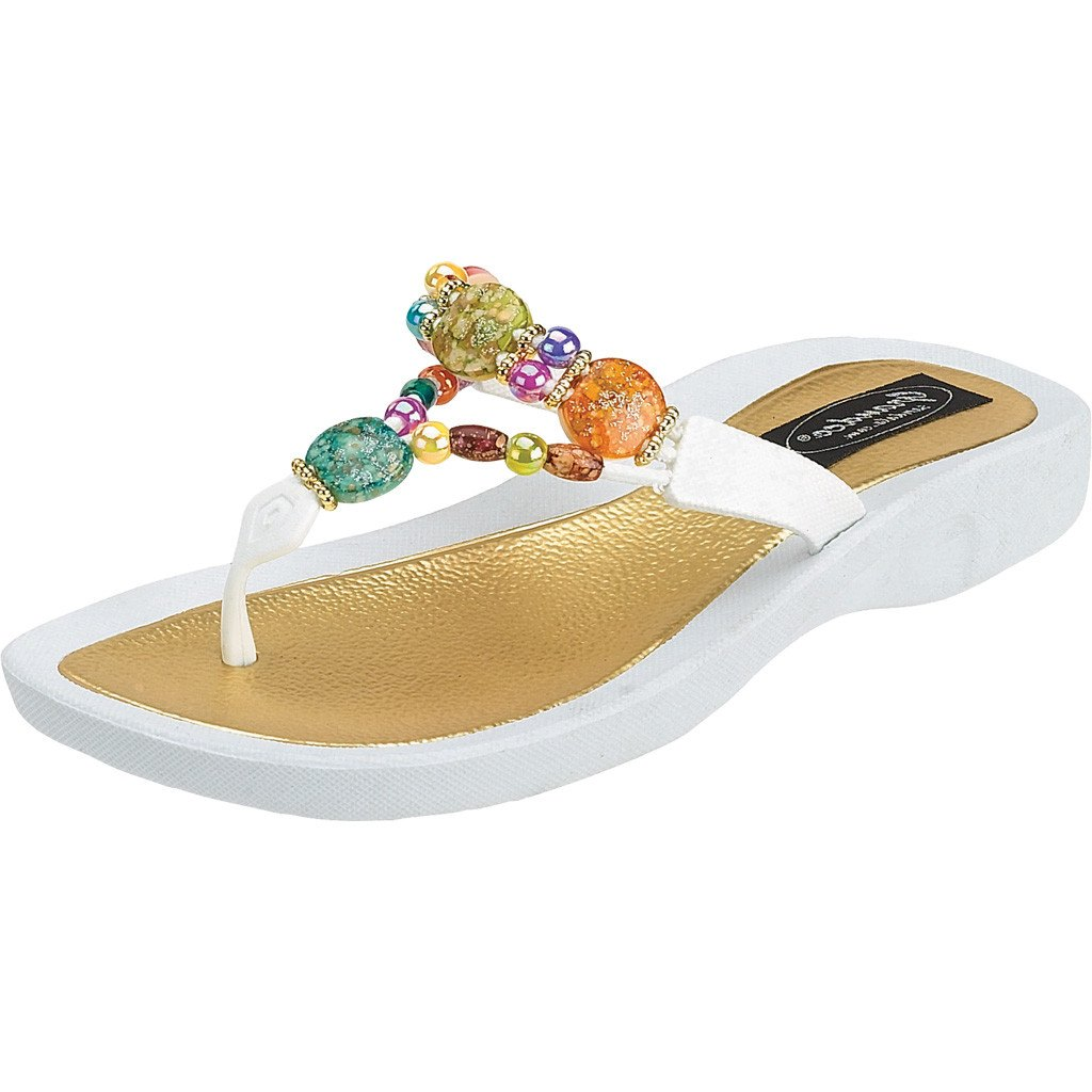 Grandco Sandals 24768g Marble Deluxe Sendal Flat Lisa Purple White Sole
