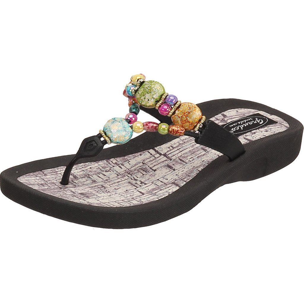 Grandco Sandals - Marble Cork 24770G in Black