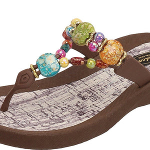 Grandco Sandals - Marble Cork 24770G Close Up Brown