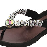 Grandco Sandals Rhinestone 24801E - Close Up Black