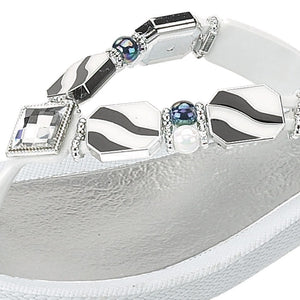 Grandco Sandals Downtown 25158R - White Close Up