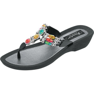 Grandco Sandals Aruba 25277G - Black Sole