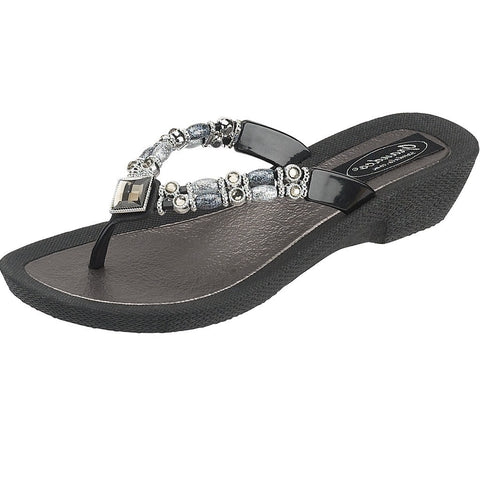 Grandco Sandals Moonlight 25392E - Black Sole