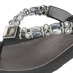 Grandco Sandals Moonlight 25392E - Close up Black