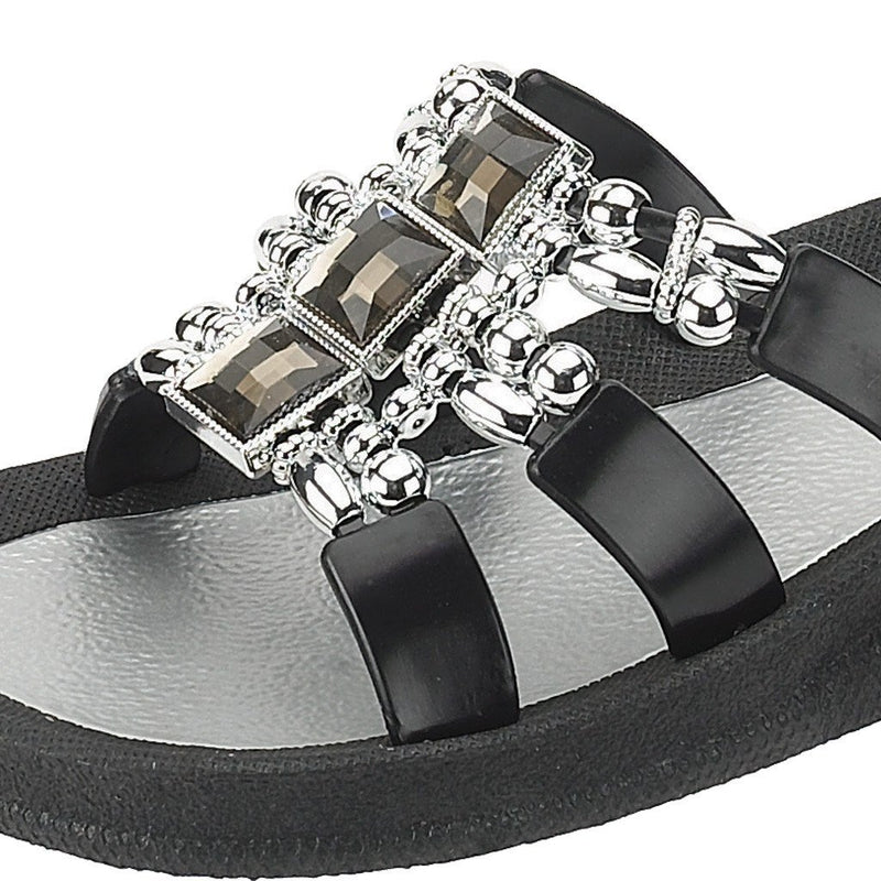 Grandco Sandals Dimension 25552E - Black Close Up