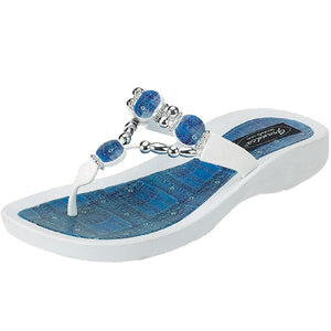 Grandco Sandals Denim 25574D - White Sole