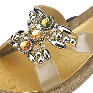 Grandco Sandals Lady Q 25764E - Taupe Close Up
