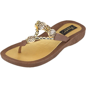 Grandco Sandals Leopard - 258587 in Brown