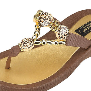 Grandco Sandals Leopard - 258587 in Brown Close Up