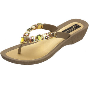 Grandco Sandals Rainbow 26245E at The Accessory Barn - Taupe