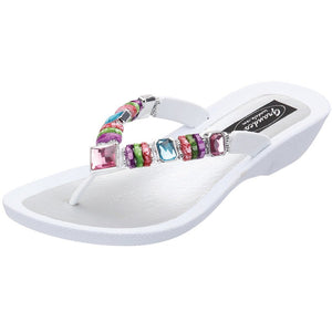Grandco Sandals Rainbow 26245E - White Sole