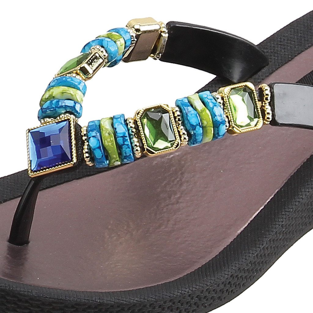 Grandco Sandals Jade Wedge 26688E - Black Close Up