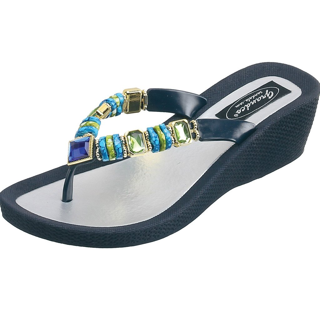 Grandco Sandals Jade Wedge 26688E - Blue Sole