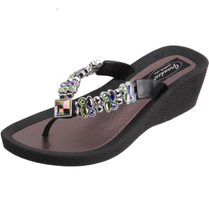 Grandco Sandals Butterfly Wedge 26743E - Black Sole