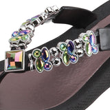Grandco Sandals Butterfly Wedge 26743E - Black Close Up