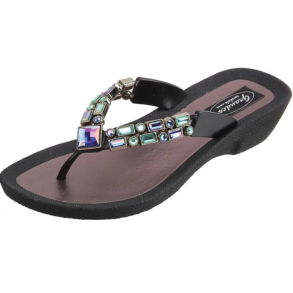 Grandco Sandals Lotus 26815E - Black Sole