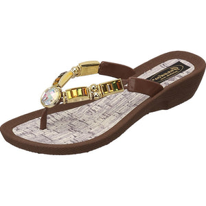 Grandco Sandals City Lightz 27128c - Brown Sole