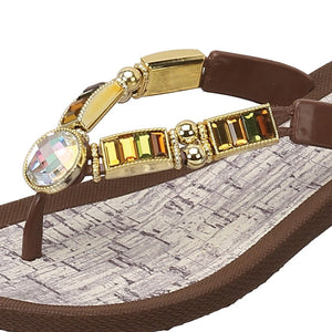 Grandco Sandals City Lightz 27128c - Close up Brown