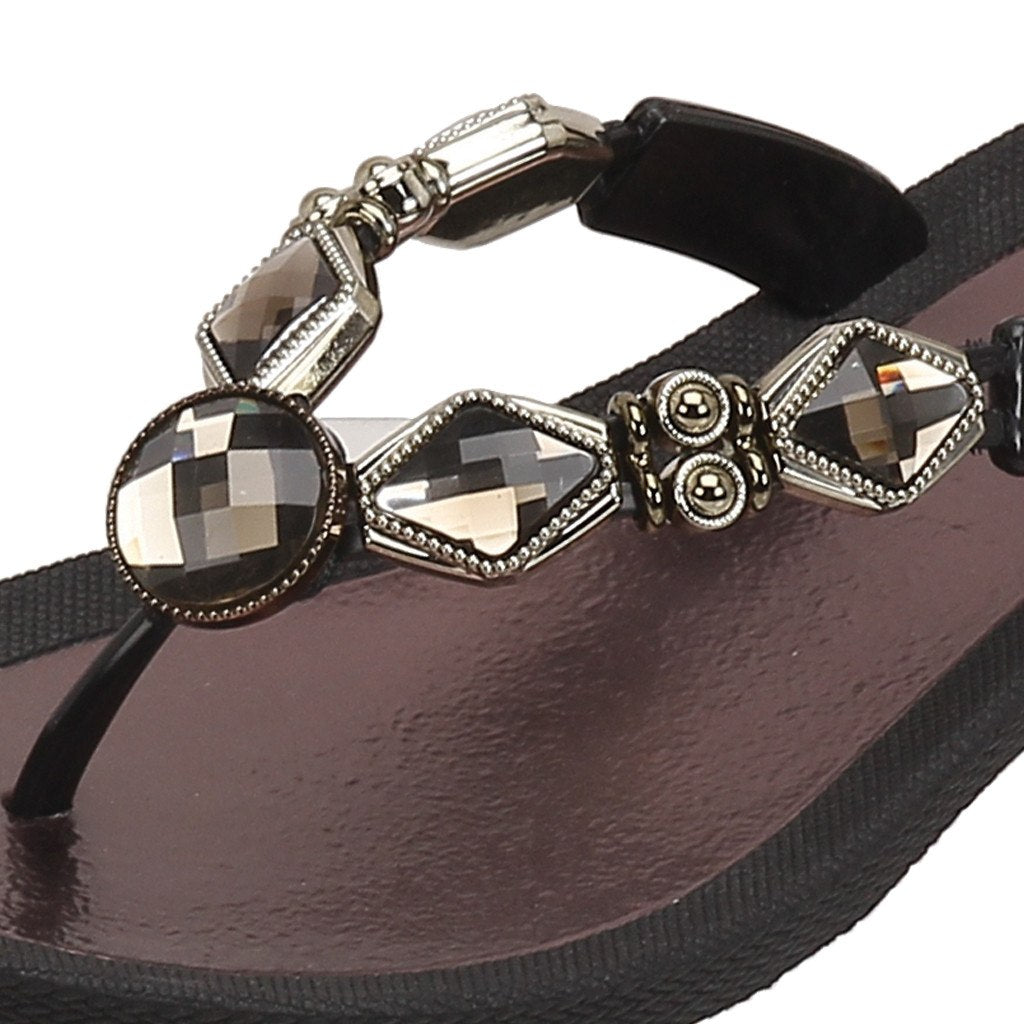 Grandco Sandals Crystal Z 27142E - Close Up Black