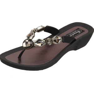 Grandco Sandals Crystal Z 27142E - Black Sole