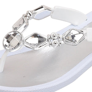 Grandco Sandals Crystal Z 27142E - Close Up White