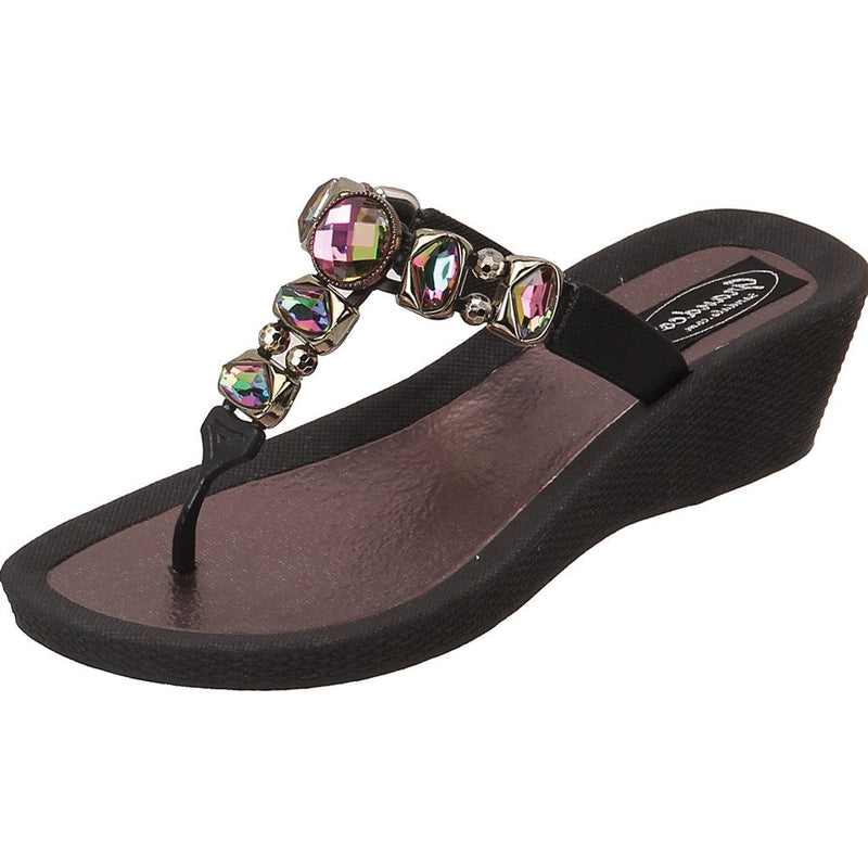 Grandco Sandals Sapphire 27173E - Brown Close Up