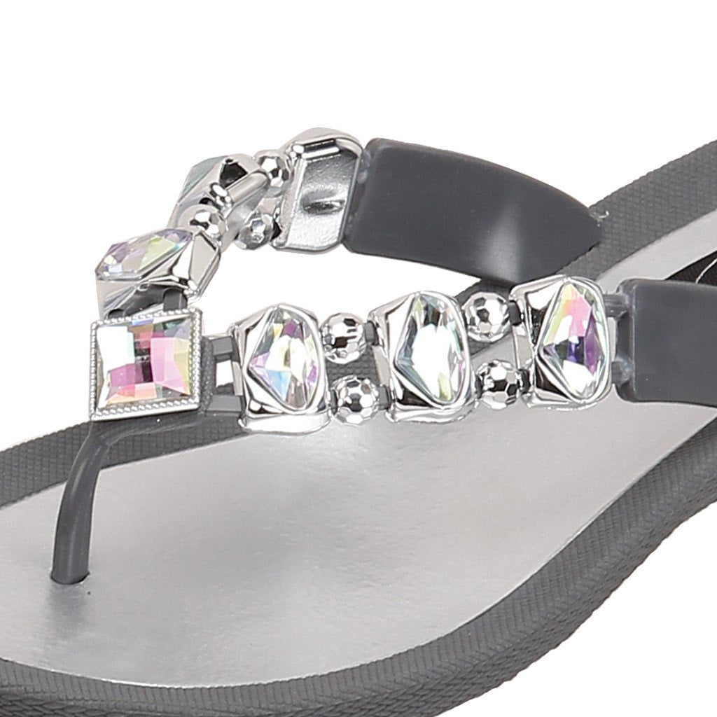 Grandco Sandals Ab Deluxe 27133E - Close Up Gray