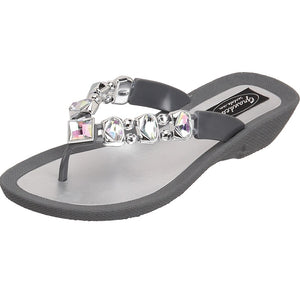 Grandco Sandals Ab Deluxe 27133E - Gray Sole