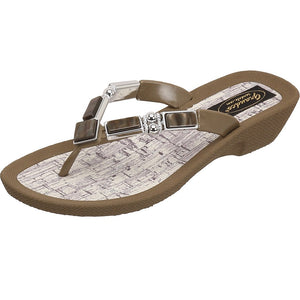Grandco Sandals Colored Shell 26734C - Brown Sole