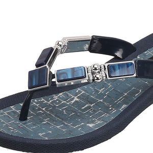 Grandco Sandals Colored Shell 26734C - Close up Blue
