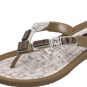 Grandco Sandals Colored Shell 26734C - Close up Brown
