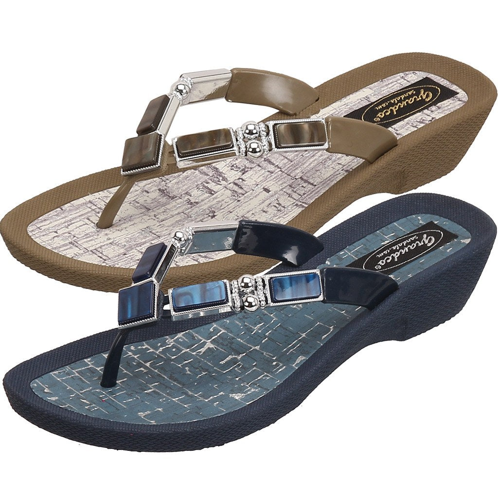 22957a33066f Grandco sandals colored shell shop at the accessory barn jpg 1024x1024 Shell  flip flops